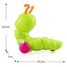 1pcs Clockwork Spring Toy Mini Baby Kids Fun Intelligence Developmental Early Educational Lovely Colorful Wind-up Random Color