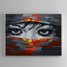 100% Hand Painted Abstract Mystery Face Art Oil Painting On Canvas Wall Adornment Picture For Living Room Home