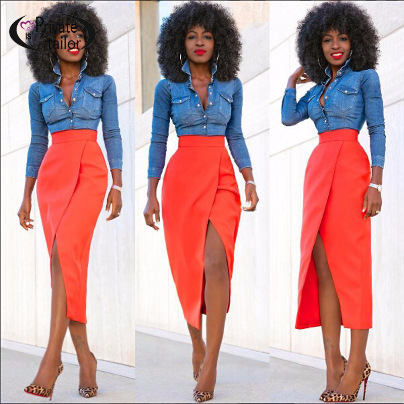 High Waisted Fitted Skirts - Dress Ala