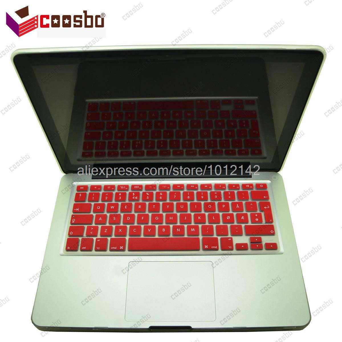 50 pcs gros norvège norvégien couleurs Silicone couvercle du clavier protecteur de la peau pour 13 15 17 polegada Mac Macbook Air Pro Retina G6