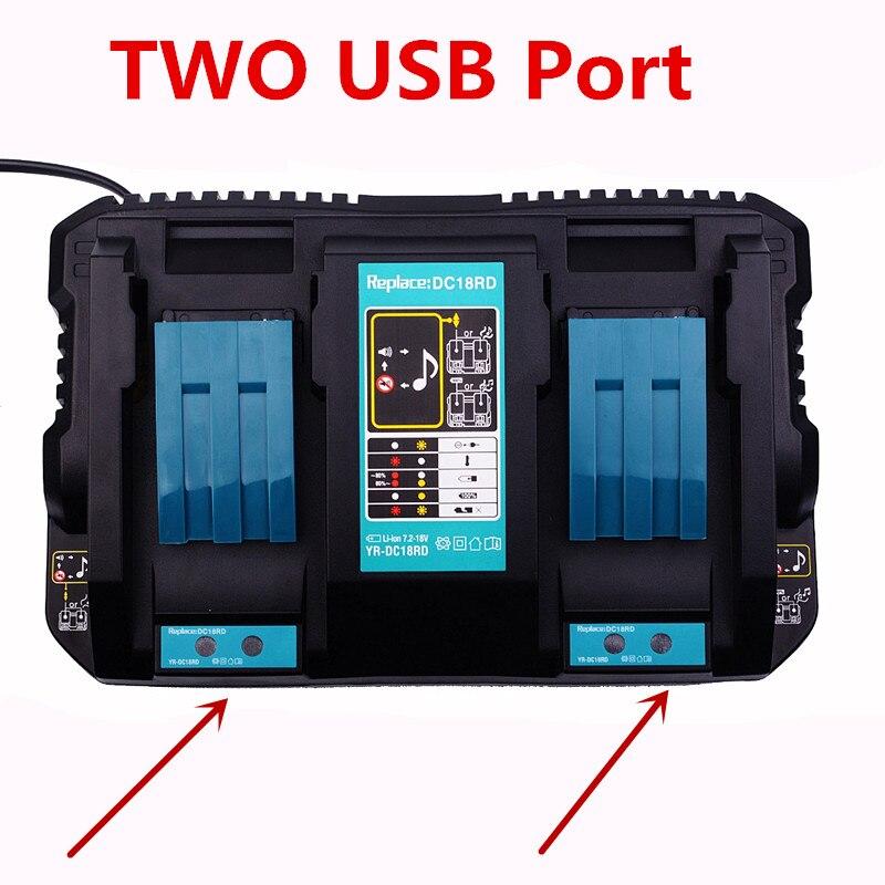 EU plug 7 2V 18V 4A Li Ion Fast Battery Charger with USB port For Makita