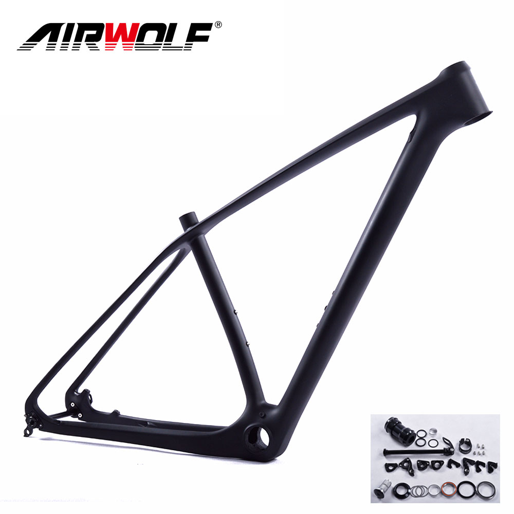 2019 China mtb carbon frame 29er mountain bikes frames include headsets clamp hanger thru axle rod