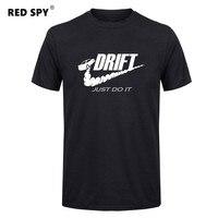 Casual T Shirt Men Car Drift Just Do It Print Tops Funny Short Sleeve T Shirt