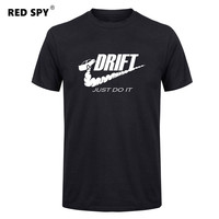 Casual T Shirt Men Car Drift Just Do It Print Tops Funny Short Sleeve T Shirt