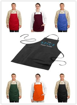 Can printed or emboridery logo Free shipping Working clothes,Cooking aprons,Kitchen aprons,waiter aprons фото