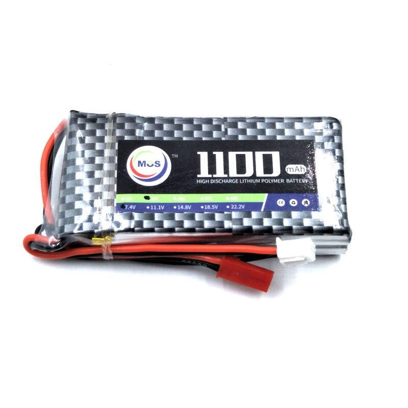 2 unids/pack MOS RC Lipo Batería 2 s 7,4 V 1100 mAh 25C para aviones RC drone batteria envío libre