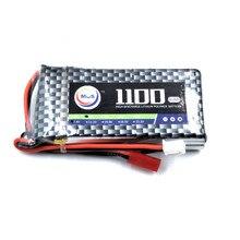 2 шт./упак. MOS RC Lipo батареи 2 S 7,4 В 1100 мАч 25C для самолета drone batteria Бесплатная доставка
