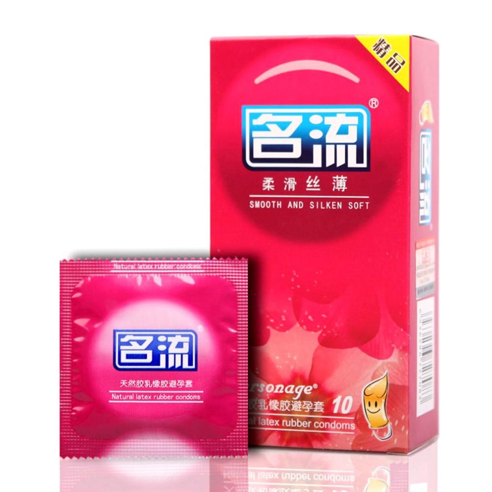 Sexprodukte Kondome 10 Teile/los Glatte Geschmiert Kondome Mingliu Naturlatex Kondom Silken Weiche Penis Sleeve Sicher Empfängnisverhütung Werkzeug Für Männer Die Nieren NäHren Und Rheuma Lindern