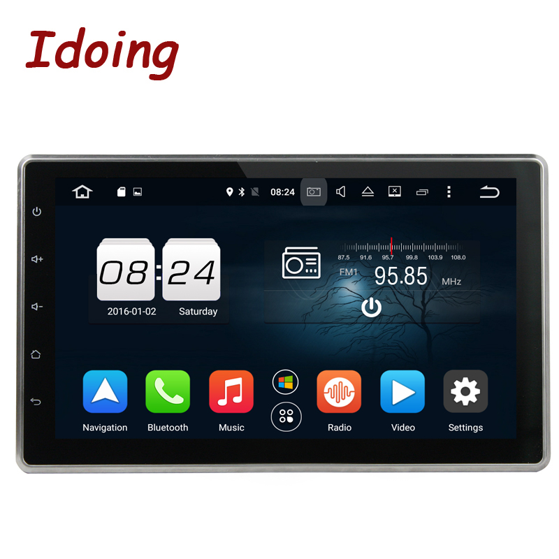 Idoing 2Din Android8.0/7.1 Steering Wheel Universal 10.1 Car Multiamedia Player 8 Core 4G+32G Navigation Touch Screen Fast Boot