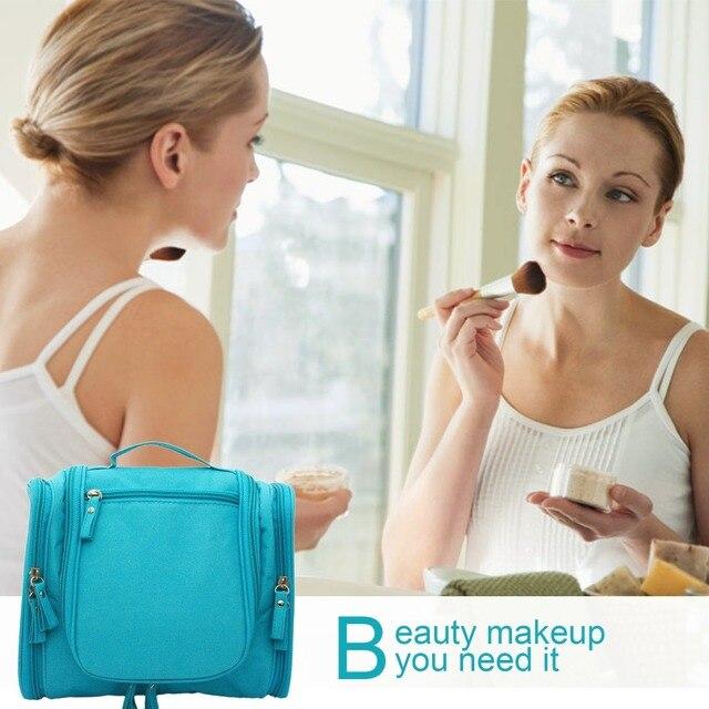 Free Shipping Waterproof Hanging Travel Toiletry Personal Organize Makeup  Bag Large Capacity Grooming Bag Kit Organizer 9aed0524c56bd
