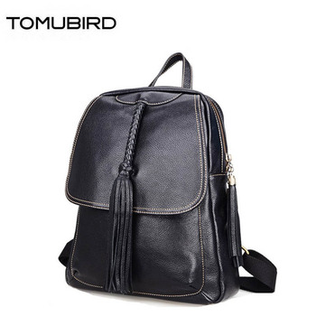 TOMUBIRD 2020 New superior genuine leather women bags famous brand women bag fashion tassel women genuine leather bagkpack