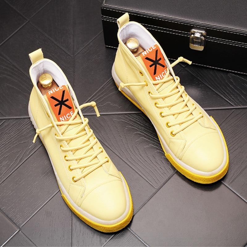Stephoes 새로운 도착 남자 패션 캐주얼 신발 여름 에어 메쉬 높은 상위 캔버스 신발 남성 통기성 청소년 동향 스 니 커 즈-에서남성용 캐주얼 신발부터 신발 의  그룹 1