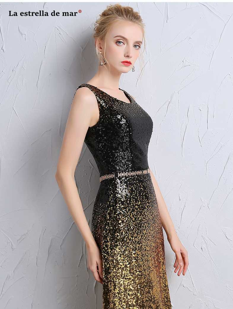 a26cba68ea7 Black And Gold Sequin Prom Dresses