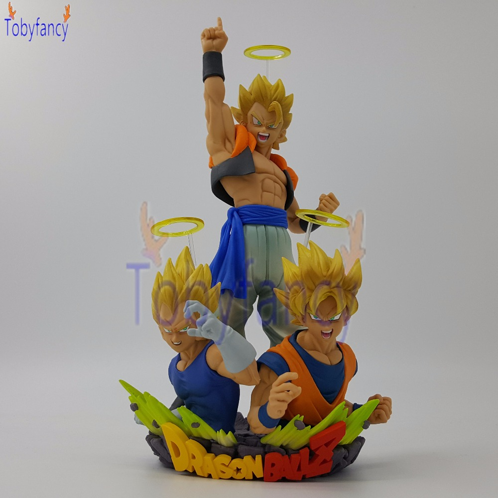 Original Dragon Ball Z Gogeta Bust PVC Action Figures Anime Dragon Ball Super Vegeta Goku Gogeta Model Toy anime dragon ball super saiyan 3 son gokou pvc action figure collectible model toy 18cm kt2841