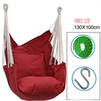 Good Selling Outdoor Hammock  Kids Children Adult Swing Chair Indoor Swinging Single Chair Furniture