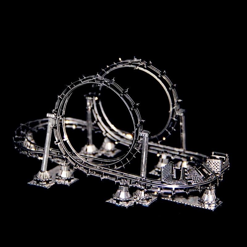 ROLLER COASTER NANYUAN 3D Metal Assembly Model Amusement Facilities Puzzle toys