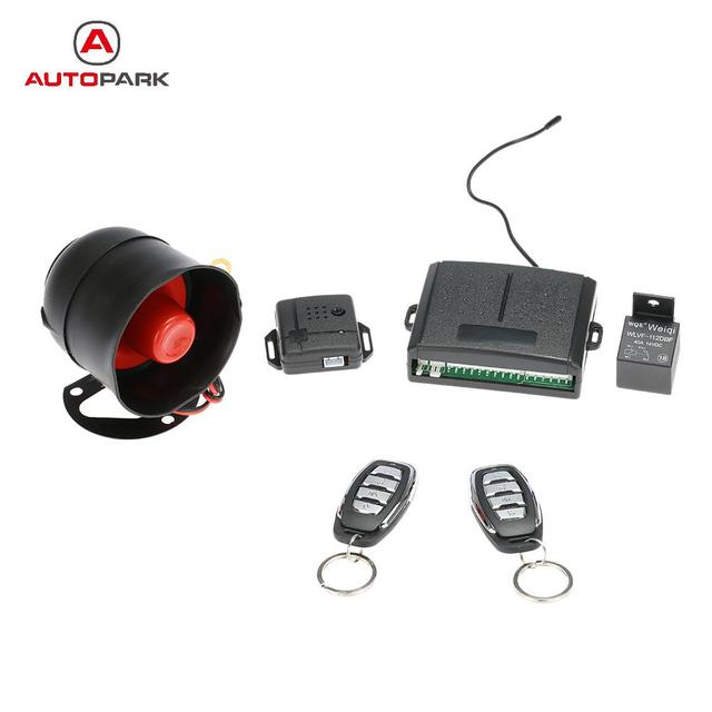 1 Way Auto Car Vehicle Security System Protection Burglar Alarm With Siren 2 Remote For