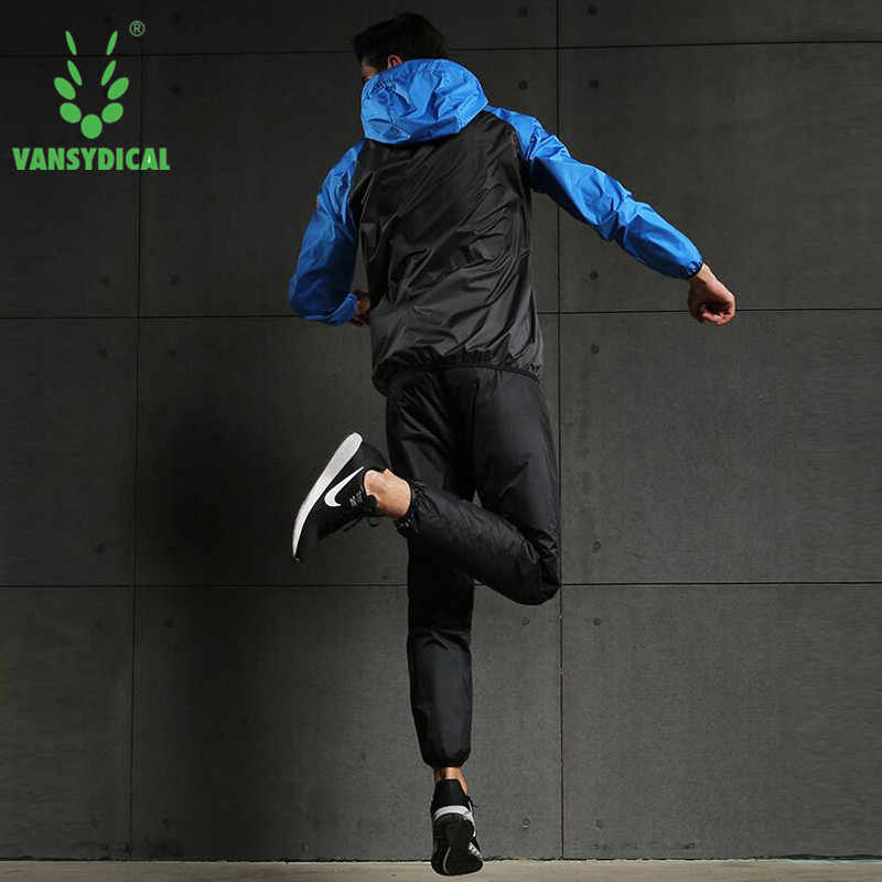 Горячая Пот комплект мужской одежды для бега 2 шт./компл. свободный вес тренировочный костюм Фитнес тренировки спортивные костюмы для бега спортивная одежда