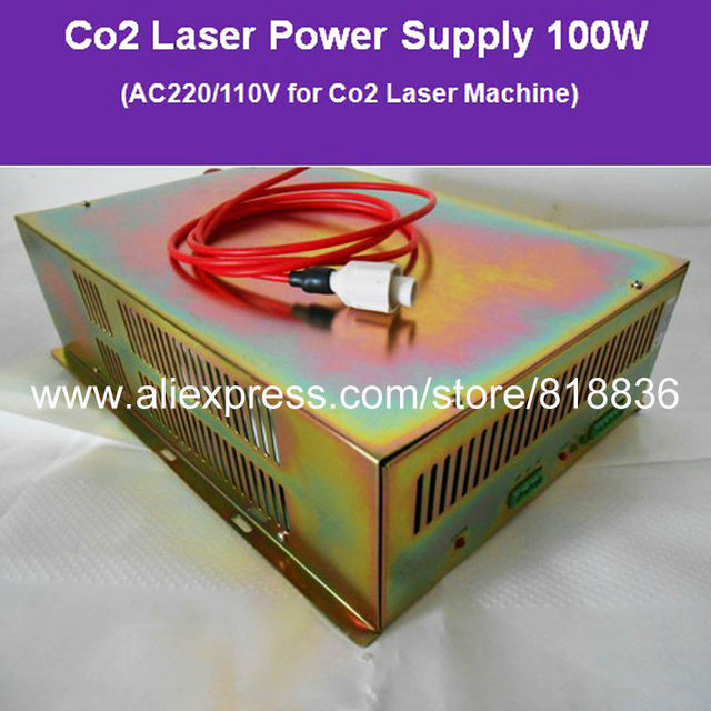 100W Co2 Laser Power Supply AC220V/110V  for Co2 Laser Engraving and Cutting Machine