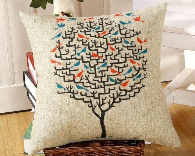 What A Big Tree And A Lot Of Birds Pillow Massager Decorative Unique Big Lots Decorative Pillows