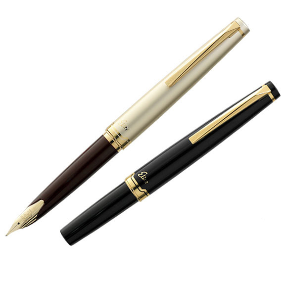 LifeMaster Pilot Elite 95s 14k Gold Pen EF/F/M nib Limited Version Pocket Fountain Pen Champagne Gold/Black Perfect Gift italic nib art fountain pen arabic calligraphy black pen line width 1 1mm to 3 0mm