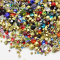 Mixed Colors! 1440pcs/pack Mix Sizes SS6 SS8 SS10 SS12 SS16 SS20 SS29 Point Back Rhinestones glass strass chaton stone