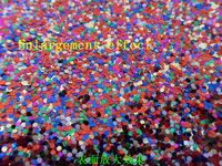 Hot Sale 69 Kinds Colors Synthetic Chunky PVC Glitter Leather Fabric For Shoes Material Sale By