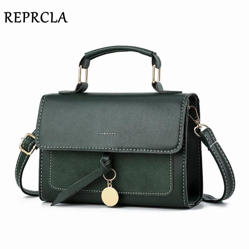 REPRCLA New Luxury Women Leather Handbag High Quality PU Shoulder Bag Brand Designer Crossbody Bags Small Fashion Ladies Bags