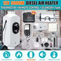 5KW 12V Air Diesels Heater Parking Heater In Car With Remote Control LCD Monitor Car Heater Silencer For Cars Buses Trucks