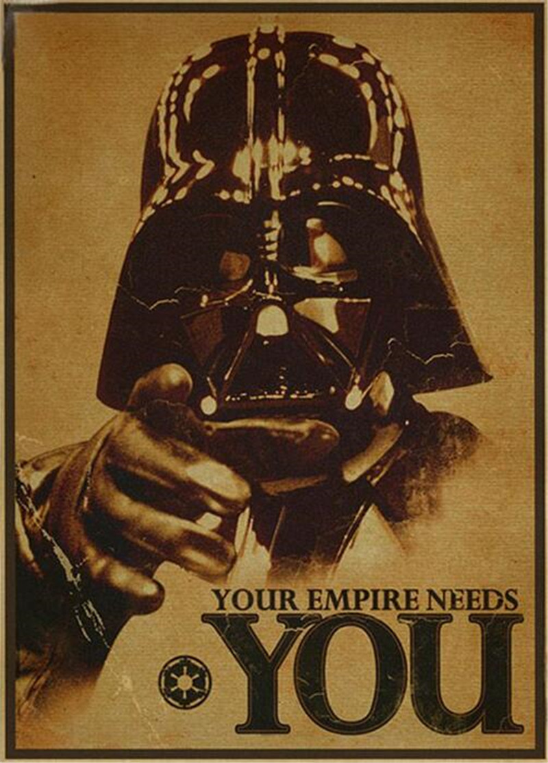 Vintage Star Wars Poster Retro Art