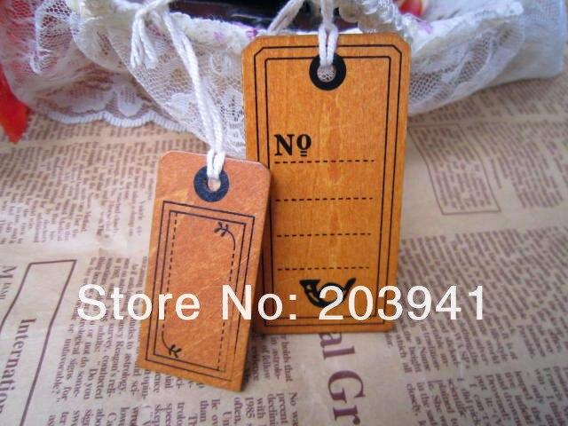 1 Pacchi/lotto Della Nuova Annata Di Legno Bagagli Tag Con La Corda/2 Pz Per Set/etichetta Di Viaggi/regalo /segnalibro In Legno
