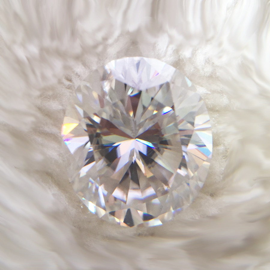 Test positive Oval Cut 12*10mm 5.8ct DEF Moissanites Loose Stone for Lady Engagement Ring Moissanite Bead for Jewelry Making
