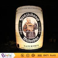 biginflatabel cask/inflatabel beer can with led lighting 3.5m high for Oktoberfest festival party Model Building Kits