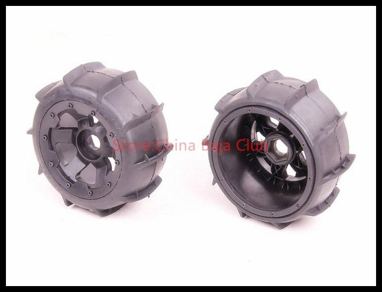 Baja 5b Rear Sand Buster Tyres with nylon wheel hub tire for HPI rovan KM 85047