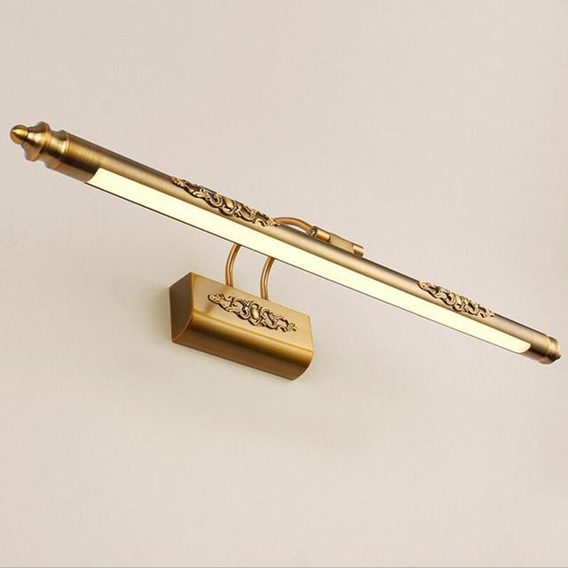 50 cm Badezimmer Spiegel Lampe Wasserdicht Retro Bronze Schrank ...