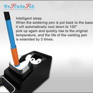 Image 5 - TOOR 75W T12 11 Lead Free Soldering Station Intelligent Temperature Control 3 Seconds Fast Heating Auto Sleep BGA Rework Station