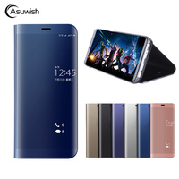 Asuwish Smart Flip Cover Leather Case For Huawei Mate 10 Pro Mate 10 P10 Plus P10
