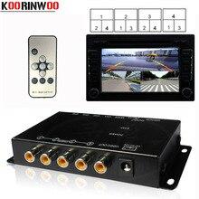 Koorinwoo Controllo Switch Box 4 Canali Disponibili per la Macchina Fotografica di retrovisione Video Lato Anteriore Telecamere Posteriore di Assistenza Al Parcheggio