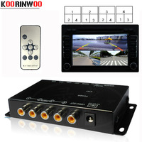 Koorinwoo Switch Box 4 Channels Available Control for Car Rear view Camera Video Front Side Rear Cameras Parking Assistance
