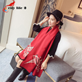 Oversized Cashmere Winter Scarf Fashion Female Autumn Cape Dual Double Wool Cloak Thickening Scarves Thermal Shawl