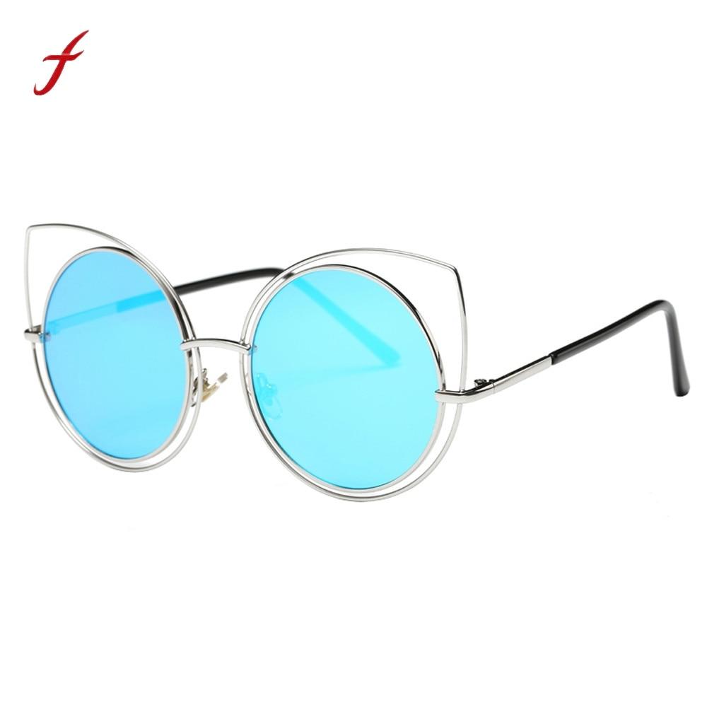 Óculos de sol para as mulheres Da Orelha de Gato Óculos De Armação De Metal  Óculos 0dcc878919