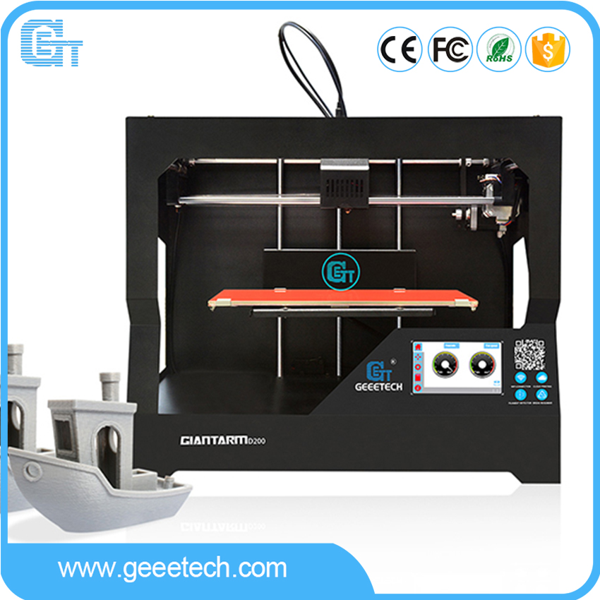 Newest Geeetech GiantArm D200 3D Printer Assembled Cloud based Built in Wi Fi Filament detector Break