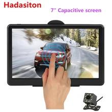 """"""" емкостный экран Автомобильный gps навигатор 8G MTK800M Sat Nav бесплатные карты, Bluetooth AV-IN и камера заднего вида опционально"""