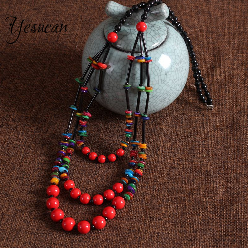 Yesucan Colorful Multilayer African Beads Jewelrys