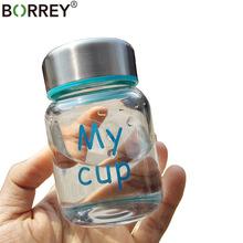 BORREY 150Ml Glass Small Water Bottle High Temperature Resistant Borosilicate Glass Mini Water Bottle For Kids Cute Glass Bottle