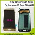 1 pcs novo ouro chegada tela sem moldura lcd display touch montagem digitador da tela de 5.5 polegada para samsung s7 edge sm-g9350
