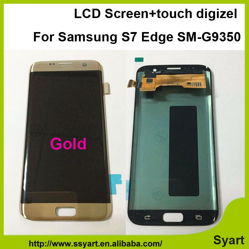 1pcs Gold New Arrival Screen without frame LCD Display Touch screen digitizer assembly 5.5 inch For Samsung S7 Edge SM-G9350 household mini electric induction cooker portable hot pot plate stove dorm noodle water congee porridge heater office eu us plug