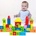 52 Pcs/Lot Alphanumeric Wooden Figure Building Blocks Cartoon Toys For Children Building Bricks Unisex Blocks Juguetes