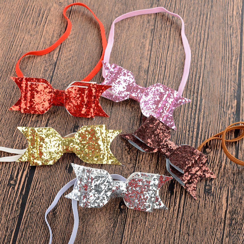 Kids Girls Headband Bow Flower Hair Band Accessories Headwear Elastic Gift Hair Accessaries