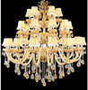 Free Shipping Large Stair Hotel Luxury Crystal Chandelier Modern Long K9 Lobby Hotel Lustres De Cristal